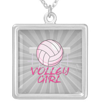valley volley girl volleyball design pendant