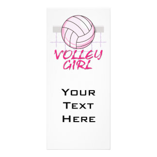 valley volley girl volleyball design personalized rack card