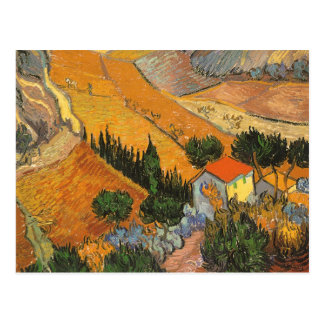 Valley with Ploughman by Vincent van Gogh Postcard
