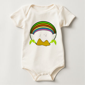 valley with rainbow infant baby bodysuit