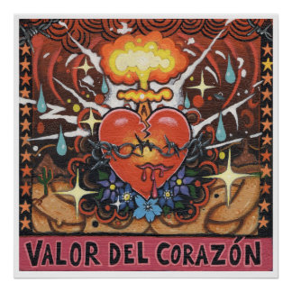 'Valor Del Corazon' art print - (pop surreal art)