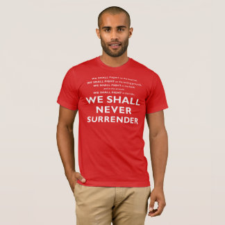 VALOR Series - Winston Churchill's Speech T-Shirt