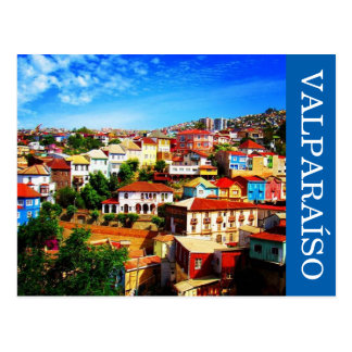 valparaíso colors postcard