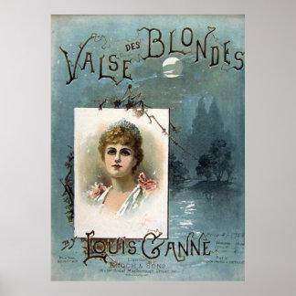 Valse des Blondes Poster