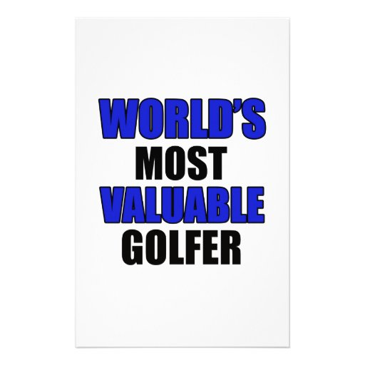 valuable golfer design stationery paper