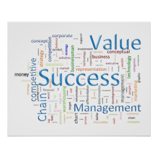Value And Success Related Text Posters