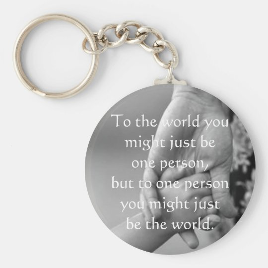 Value of a mum basic round button key ring