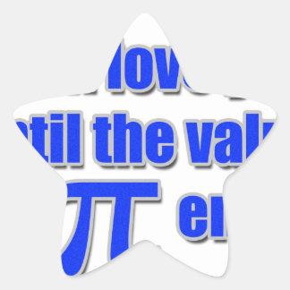 Value of Pi Love Star Sticker