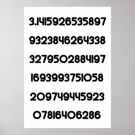 Value of Pi Pie 3.14159 Mathematical Constant π Print