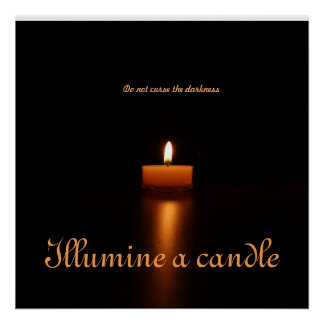 Value Poster Paper-Illumine a candle