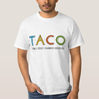 Value TACO T-Shirt, White T-Shirt
