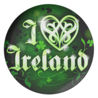 Valuegem Proud I love Ireland Plate