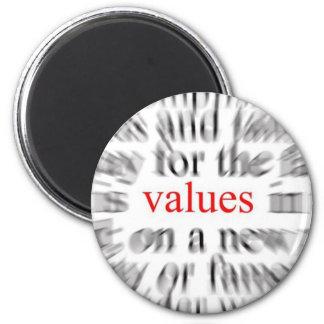 Values (Inspiration) 6 Cm Round Magnet