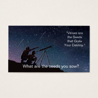 Values - The seeds you Sow and Your Goals Business Card