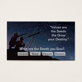 Values- The seeds you Sow and Your Goals Business Card