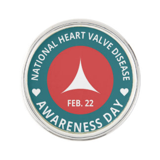 Valve Disease Day- Silver Plated Lapel Pin