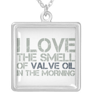 Valve Oil Square Pendant Necklace