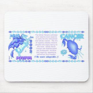 Valxart 1942 2002 zodiac water horse born Cancer Mouse Pad