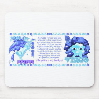 Valxart 1942 2002 zodiac water horse born in Virgo Mouse Pads
