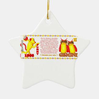 Valxart 1956 2016 2076 FireMonkey zodiac Gemini Christmas Ornament