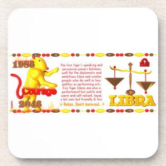 Valxart 1956 2016 2076 FireMonkey zodiac Libra Drink Coaster