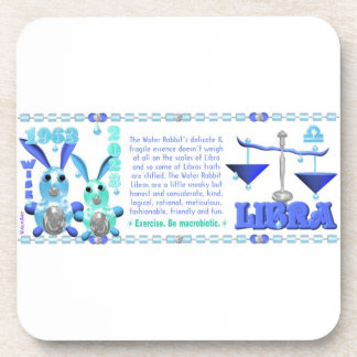 Valxart 1963 2023 WaterRabbit zodiac Libra Coaster