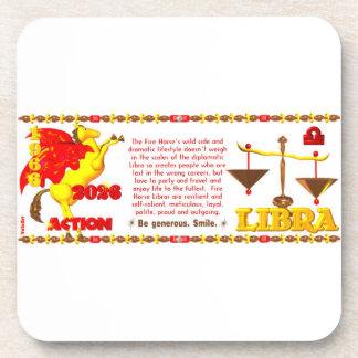 Valxart 1966 2026 Fire Sheep zodiac Libra Drink Coaster
