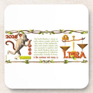 Valxart 1968 2028 EarthMonkey zodiac Libra Drink Coaster