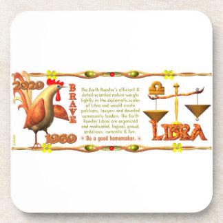 Valxart 1969 2029 Earth Roster zodiac Libra Beverage Coasters