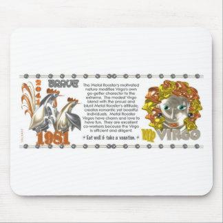 ValxArt 1981 Chinese Zodiac Virgo metal rooster Mousepads