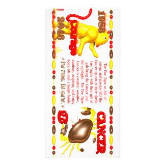 Valxart 1986 2046 FireTiger zodiac Cancer Personalised Photo Card