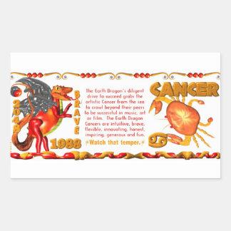 Valxart 1988 2048 EarthDragon zodiac Cancer Rectangular Sticker