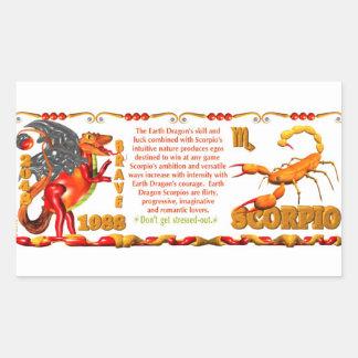 Valxart 1988 2048 EarthDragon zodiac Scorpio Rectangular Sticker