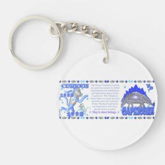 Valxart 1992 2052 WaterMonkey zodiac  Capricorn Double-Sided Round Acrylic Key Ring
