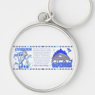 Valxart 1992 2052 WaterMonkey zodiac  Capricorn Silver-Colored Round Key Ring