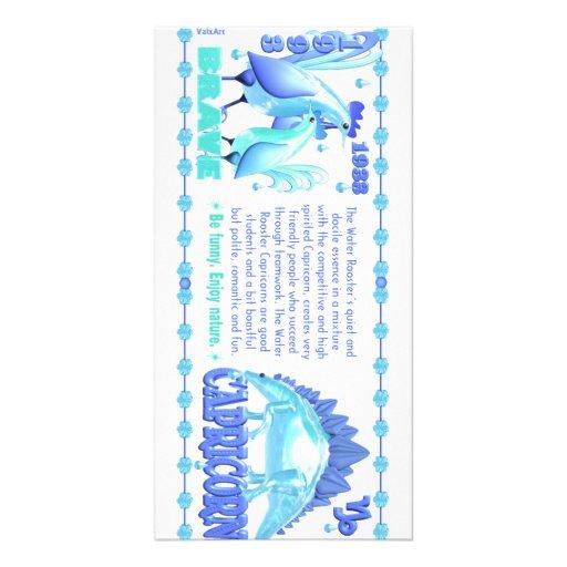 Valxart 1993 2053 WaterRooster zodiac Capricorn Photo Greeting Card