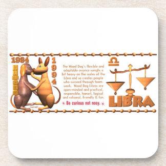 Valxart 1994 2054 WoodDog zodiac Libra Drink Coasters
