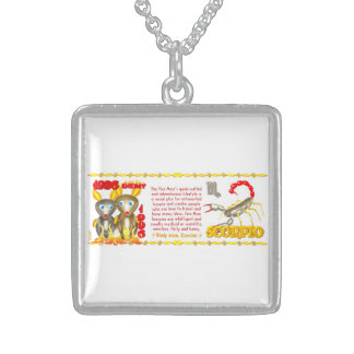 Valxart 1996 2056 FireRat zodiac Scorpio Sterling Silver Necklace