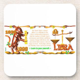 Valxart 1998 1938 2058 zodiac EarthTiger Libra Drink Coaster