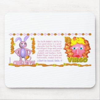 Valxart 1999 1939 2059 zodiac EarthRabbit Virgo Mouse Pad