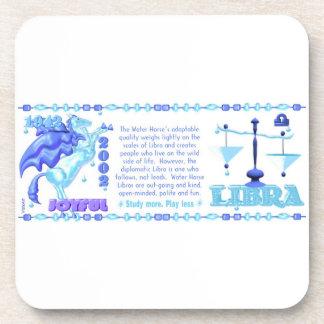 Valxart 2002 1942  zodiac WaterHorse Libra Drink Coasters