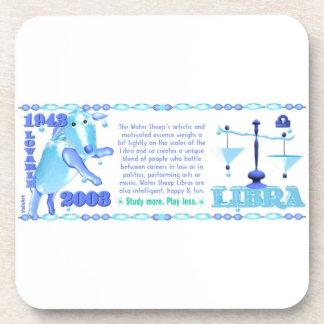 Valxart 2003 1943 2063 zodiac WaterSheep Libra Coasters