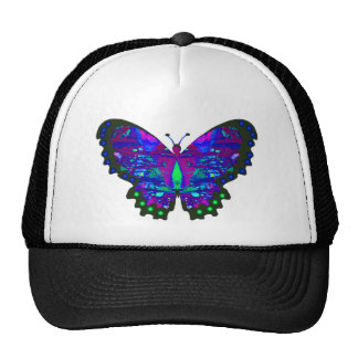 Valxart abstract blue butterfly gifts cap