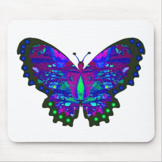 Valxart abstract blue butterfly gifts mouse pad