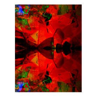Valxart abstract jello art postcard