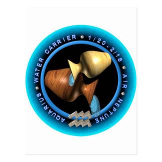 valxart Aquarius zodiac logo Post Cards