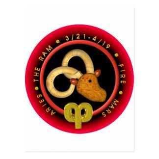 Valxart Aries zodiac Post Card