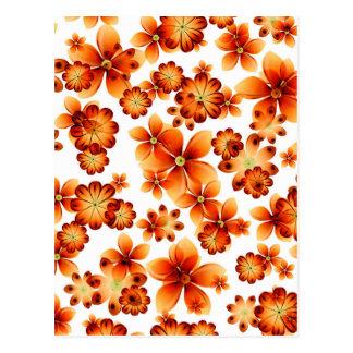 Valxart Burnt Flowers Postcard