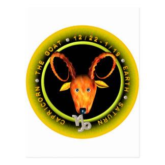 Valxart Capricorn zodiac logo Post Card