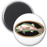 Valxart chrome Pisces fish gift design Fridge Magnets